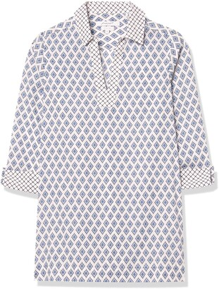 Foxcroft Women's Nora Diamond Block Wrinkle Free Tunic