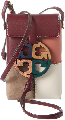 Tory Burch Miller Colorblocked Leather Phone Crossbody