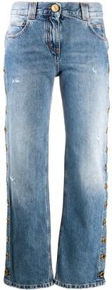Balmain Buttoned Straight-Leg Jeans