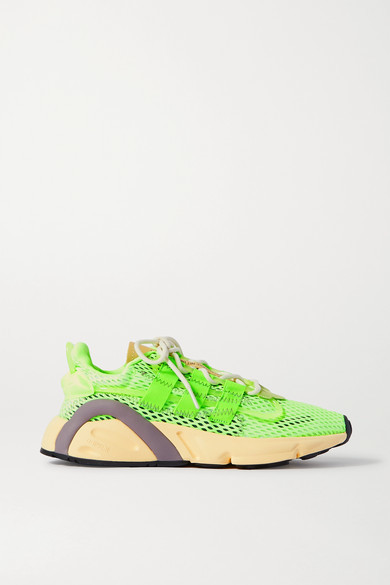 adidas Lxcon Grosgrain-trimmed Mesh Sneakers - Green