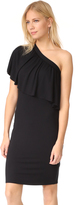 Three Dots One Shoulder Ruffle Dress