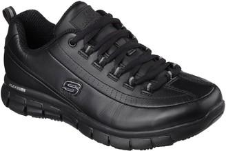Skechers Sure Track Trickel Safety Slip Resistant Trainer - Black