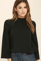 Do & Be Style Student Black Long Sleeve Top