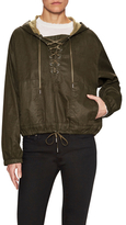 Helmut Lang Lace Up Hooded Jacket