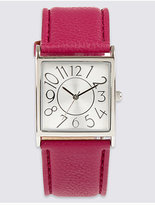 M&S Collection Large Square Face Strap Watch