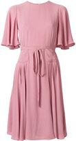 Valentino belted plisse dress