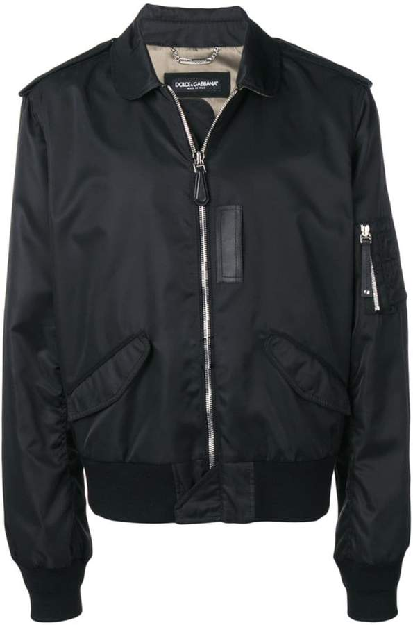 Dolce & Gabbana multi-pocket bomber jacket