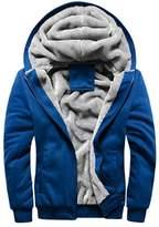 Rocky Sun Men Winter Hooded Jacket Hoodie Faux-Fur Lined Warm Coat L