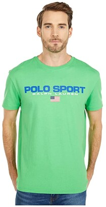 Polo Ralph Lauren Classic Fit Graphic Tee (Fall Royal) Men's Clothing