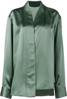 Haider Ackermann asymmetric wrap shirt - women - Silk/Rayon - 38