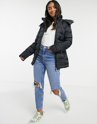 Brave Soul gambia padded jacket in black