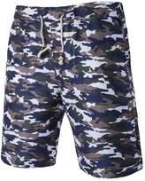 SANKE Men's Quick Drying Summer Camou Beach Board Shorts Plus Size Swim Trunks