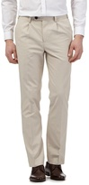 Jeff Banks Big And Tall Beige Smart Trousers
