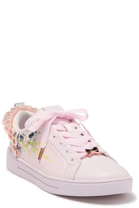 Ted Baker Astrina Leather Printed Ruffle Sneaker