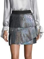 Parker Joss Iridescent Pleated Skirt
