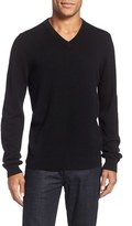 Nordstrom Cashmere V-Neck Sweater (Big)