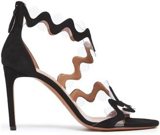 Alaia Pvc-paneled Suede Sandals