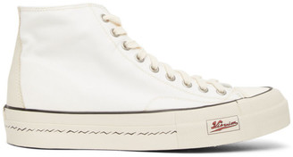 Visvim White Skagway High-Top Sneakers