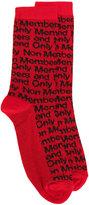 Stella McCartney 'Members Only' socks - men - Polyamide/Wool - M