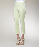 Key Lime Scuba-Knit Capri Pants