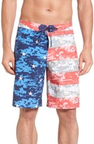 Vineyard Vines Men's Flag Print Board Shorts