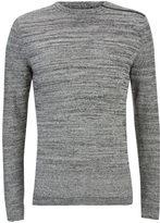 Jack and Jones Men's Core Octavio Textured Jumper - Grey