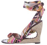 Emilio Pucci Cutout Wedge Sandals