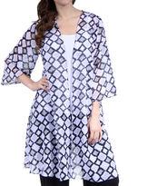 24/7 Comfort Apparel Women's 3/4 Sleeve Layering Shrug