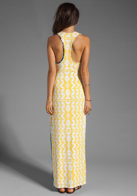 Mara Hoffman Tank Dress in Luau Black/Yellow