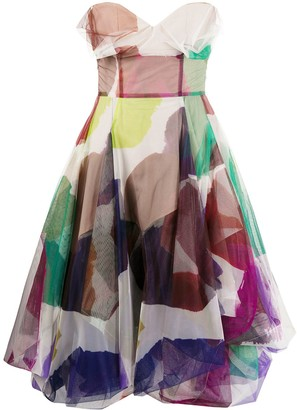 Vivienne Westwood Abstract Print Midi Dress