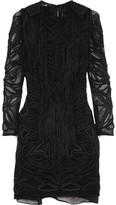 Nelcie embellished lace mini dress