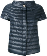 Herno short-sleeved puffer jacket