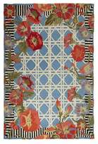 Mackenzie Childs MacKenzie-Childs Blue Morning Glory Indoor/Outdoor Rug, 5' x 8'
