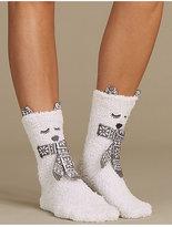 M&S Collection Bear Slipper Socks