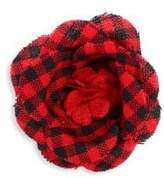hook + ALBERT Plaid Lapel Flower