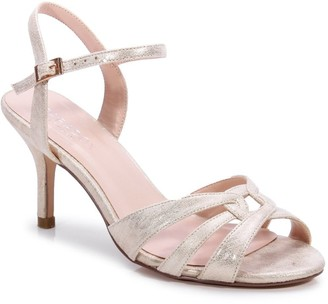Paradox London Glitter 'Haigar' Wide Fit Mid Heel Sandal