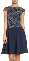 Tadashi Shoji Women's Embroidered Lace Fit & Flare Dress