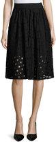 BCBGeneration Grid-Lace Knit Skirt