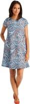 J.Mclaughlin Silk Swing Dress in Mini Leaf Paisley