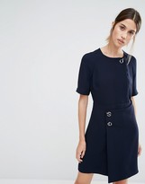Whistles Jade Shift Dress with Wrap Front