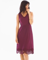 Soma Intimates Venice Hem Sleeveless Short Dress Marsala