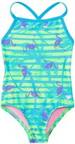 TYR Girls' Flamingo Stripe Diamondfit One Piece Swimsuit (4yrs16yrs) - 8136984