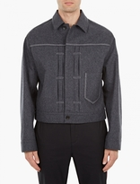 Maison Margiela Grey Boxy Wool Jacket