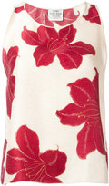 Forte Forte floral print tank top - women - Silk - 1