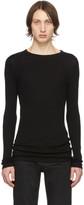 Saint Laurent Black Ribbed Jersey T-Shirt