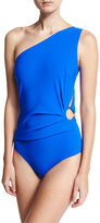 La Petite Robe di Chiara Boni Teti One-Shoulder Cutout Swimsuit
