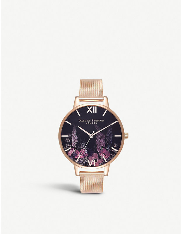 Olivia Burton OB16EX94 Dark Bouquet rose gold-plated watch