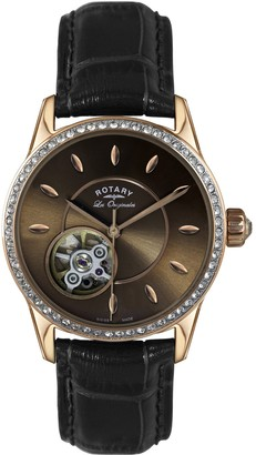 Rotary Womens Analogue Classic Automatic Watch with Leather Strap LS90515/16/L1R