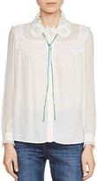 Maje Clotilde Lace-Collar Shirt