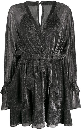 IRO Ruffle-Layered Wrap Dress